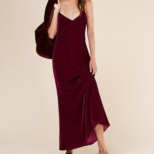 Reformation Velvet Dress Extra-Small